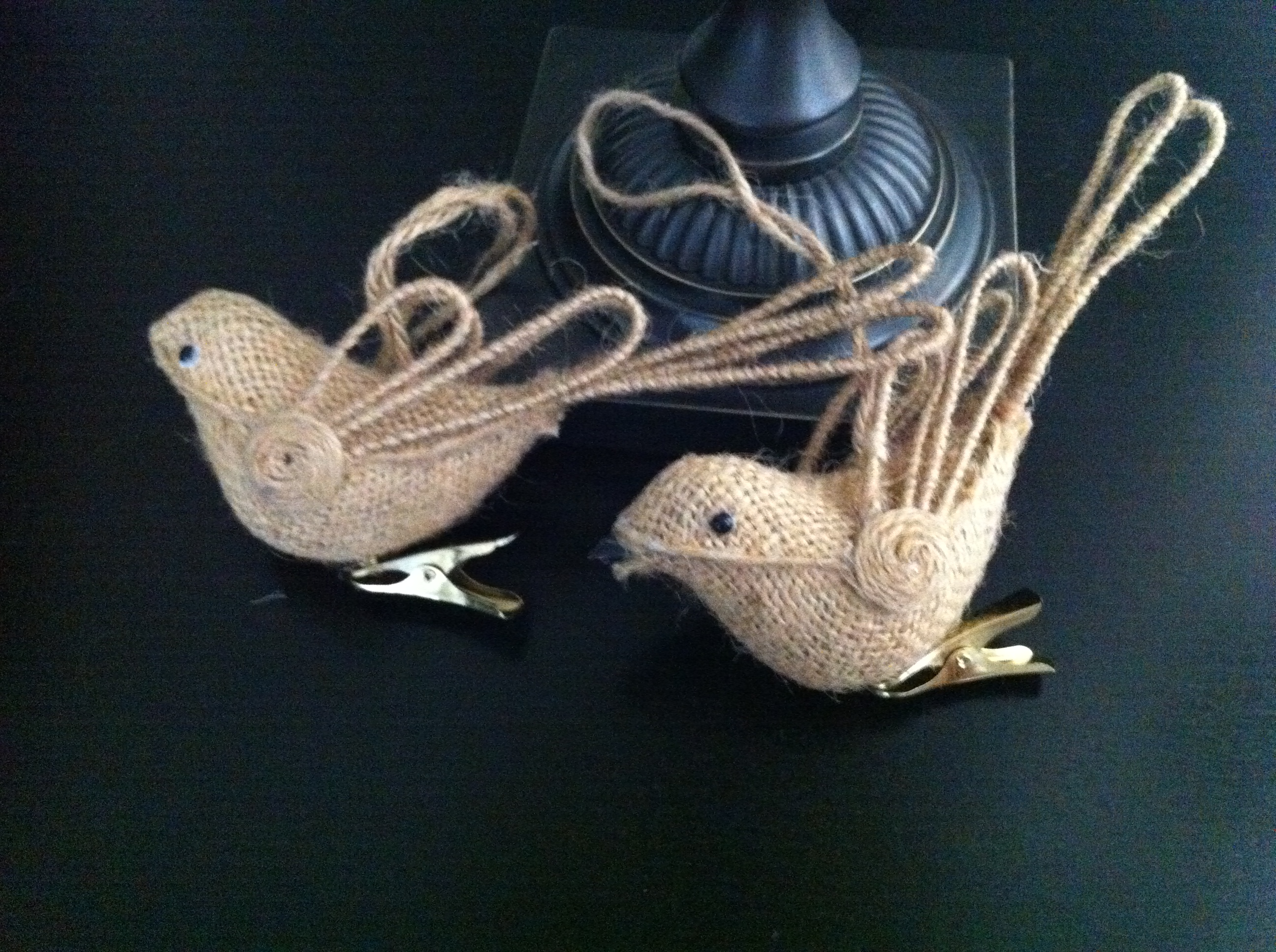 Burlap bird ornaments - Http Www Ballarddesigns Com Burlap Bird Ornaments Set Of 6 13572