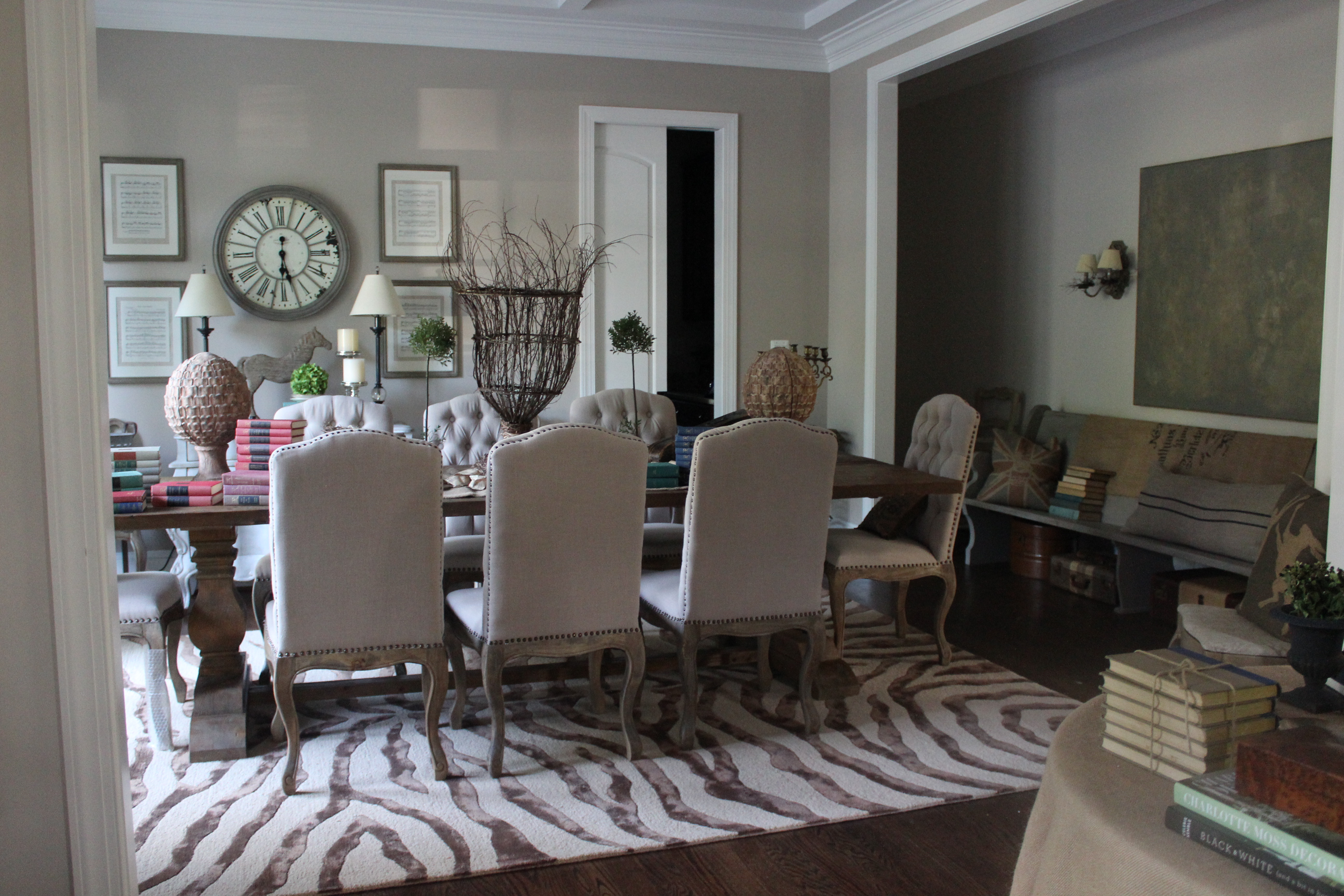 I Finally Found Another Brown Zebra Rug That Fit My Reclaimed Wood Dining Table