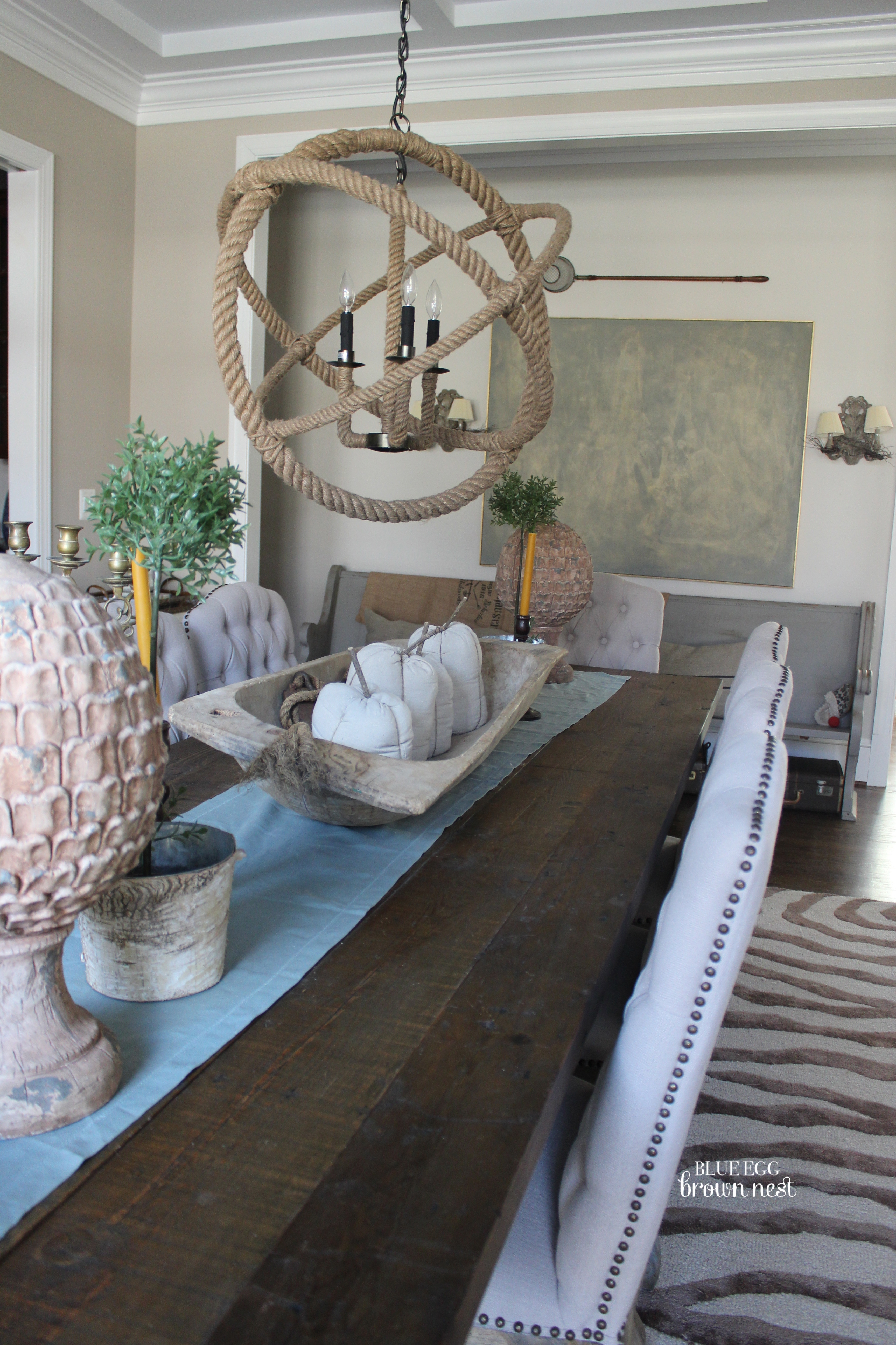 Ashley S Nest Decorating A Dining Room: …Blue Egg Brown Nest Home Colors: Dining Room
