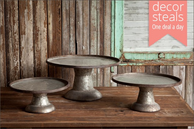 galvanized-cake-stands